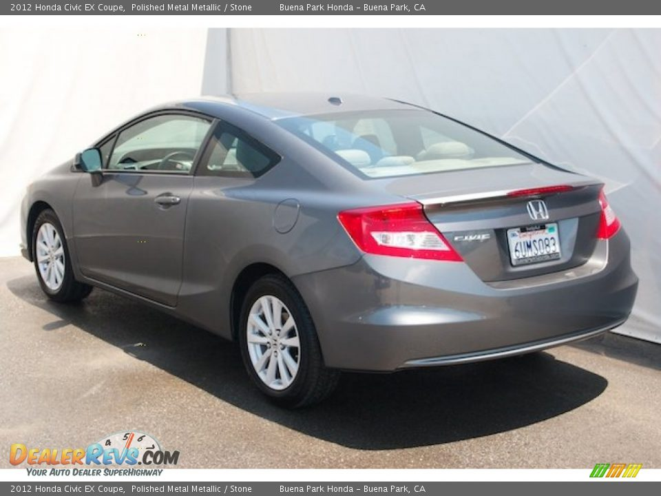 2012 Honda Civic EX Coupe Polished Metal Metallic / Stone Photo #2