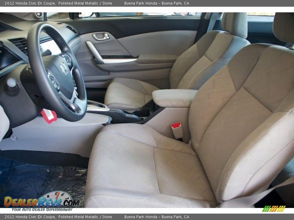 2012 Honda Civic EX Coupe Polished Metal Metallic / Stone Photo #3