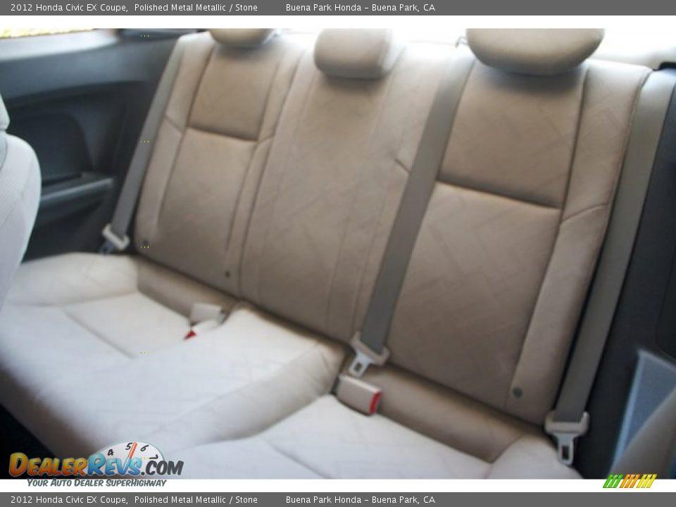2012 Honda Civic EX Coupe Polished Metal Metallic / Stone Photo #4