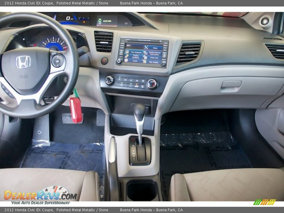 2012 Honda Civic EX Coupe Polished Metal Metallic / Stone Photo #5