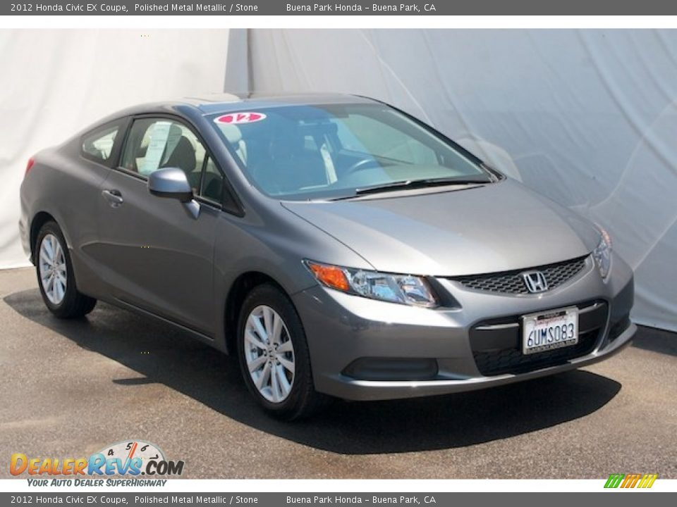 2012 Honda Civic EX Coupe Polished Metal Metallic / Stone Photo #6