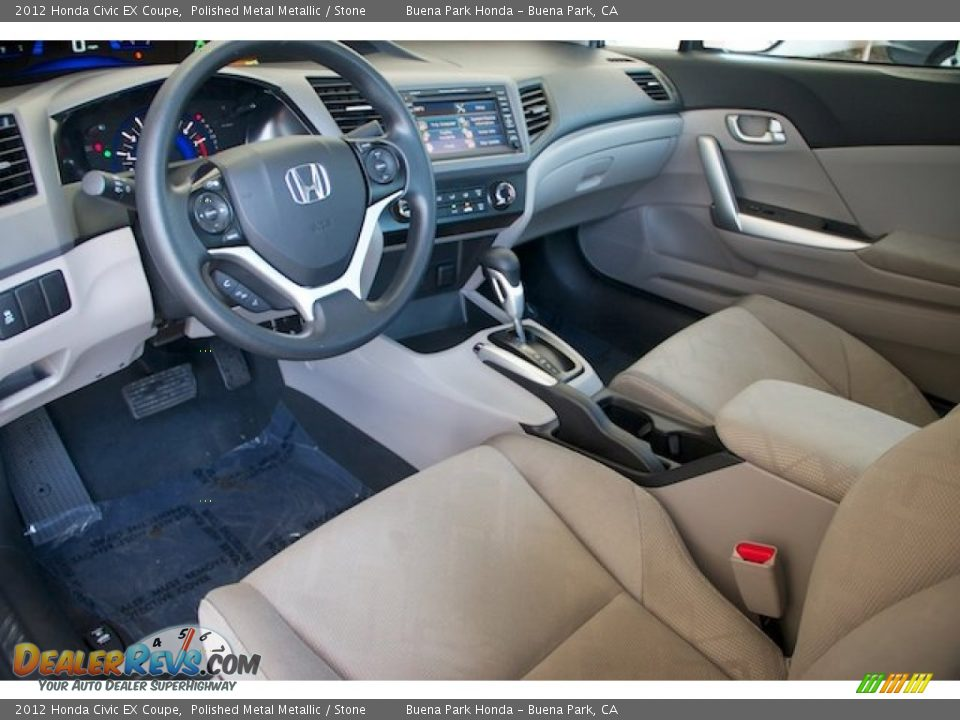 2012 Honda Civic EX Coupe Polished Metal Metallic / Stone Photo #13