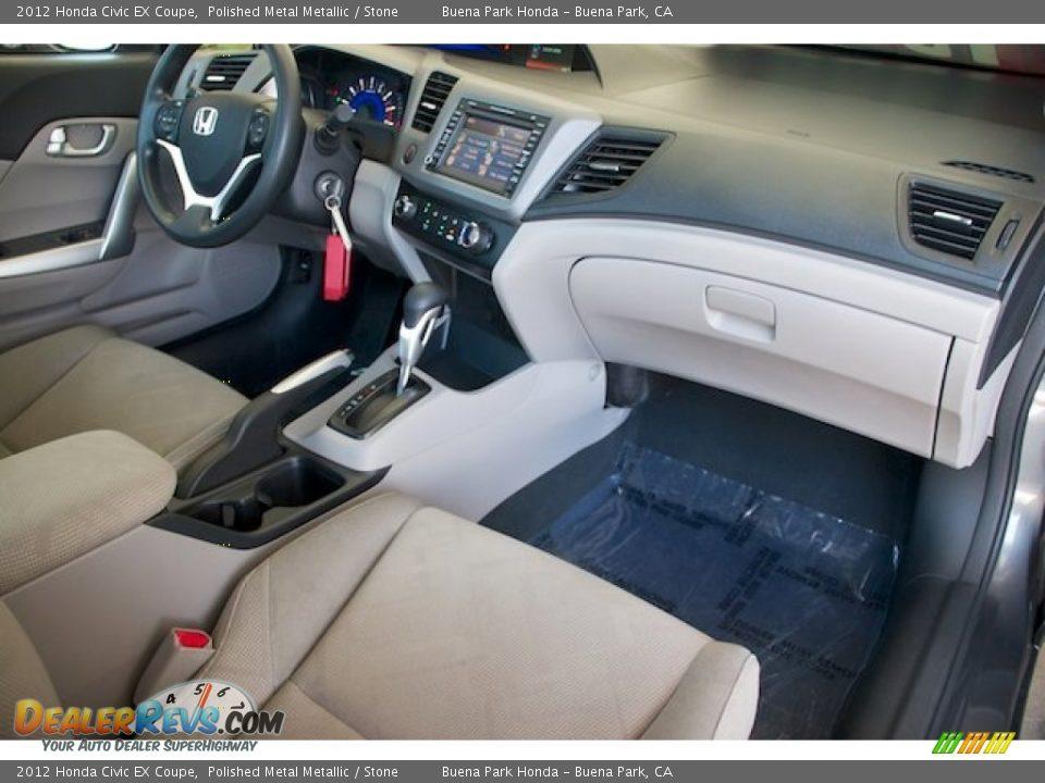 2012 Honda Civic EX Coupe Polished Metal Metallic / Stone Photo #17