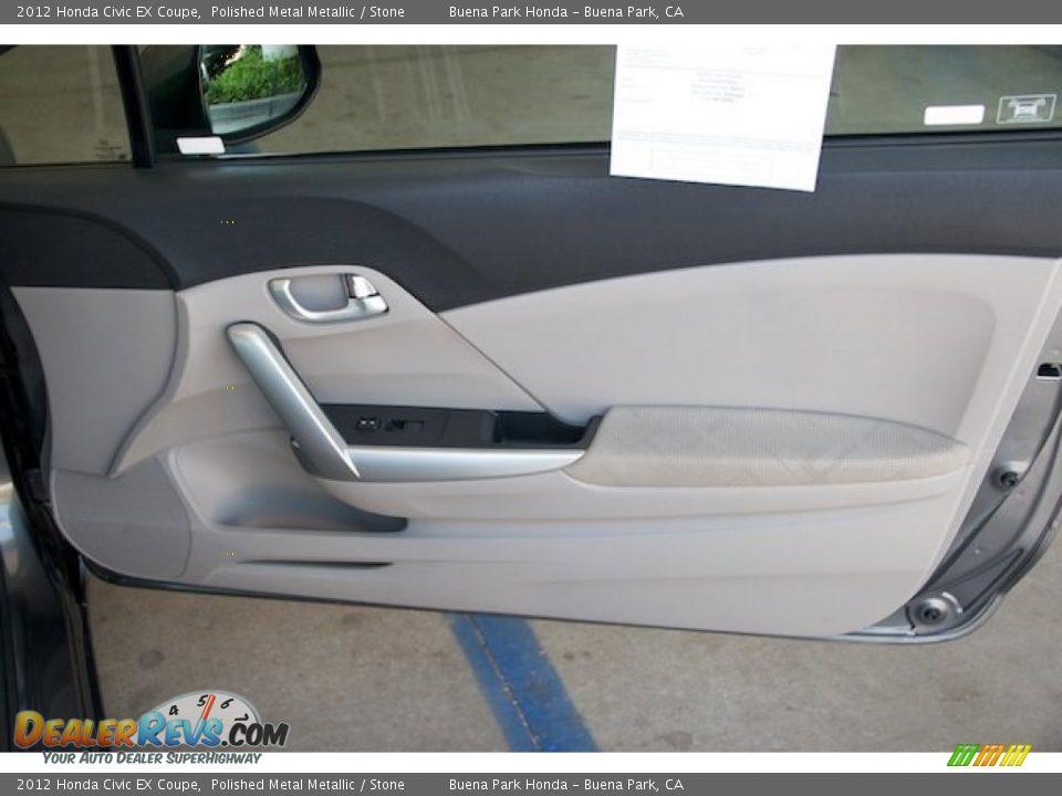 2012 Honda Civic EX Coupe Polished Metal Metallic / Stone Photo #24