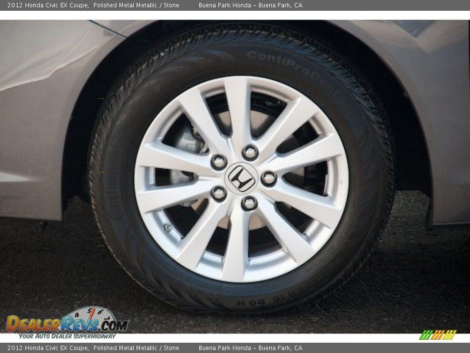 2012 Honda Civic EX Coupe Polished Metal Metallic / Stone Photo #28