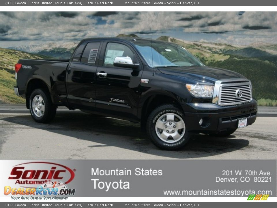 2012 toyota tundra limited double cab 4x4 black red rock photo 1. Black Bedroom Furniture Sets. Home Design Ideas