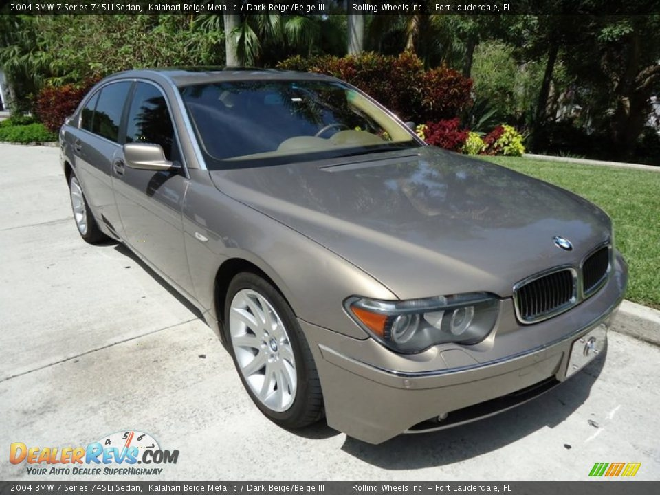 2004 Bmw 7 Series 745li Sedan Kalahari Beige Metallic