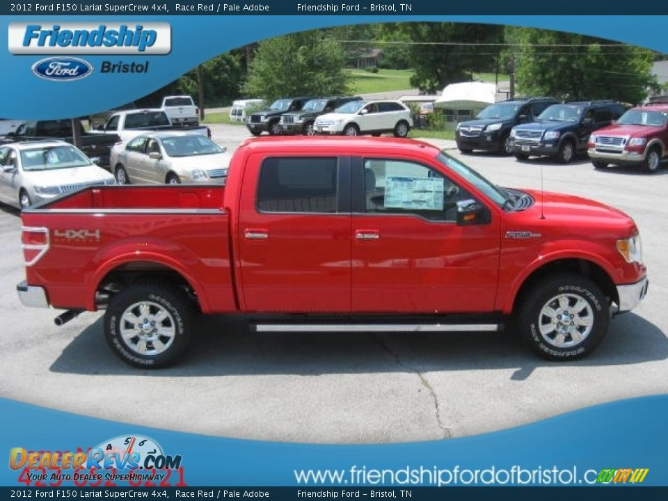 2012 Ford F150 4x4 2012 Ford F150 Lariat SuperCrew 4x4 Race Red / Pale Adobe Photo #5 ...