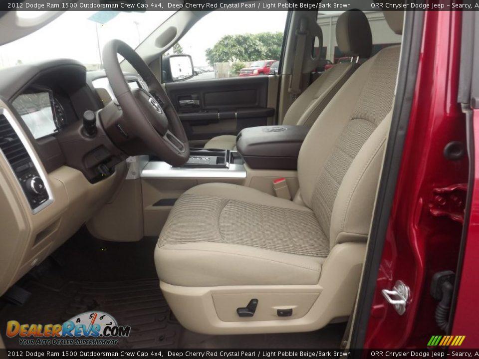 Light Pebble Beige Bark Brown Interior 2012 Dodge Ram 1500 Outdoorsman Crew Cab 4x4 Photo 11
