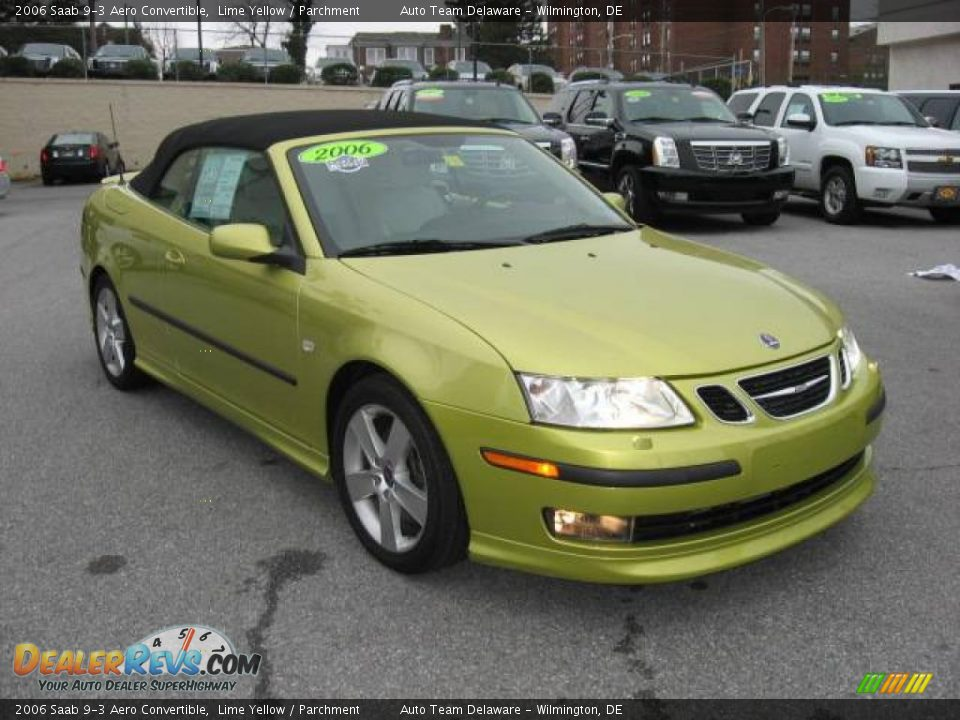 2006 saab 9 3 aero convertible lime yellow parchment. Black Bedroom Furniture Sets. Home Design Ideas