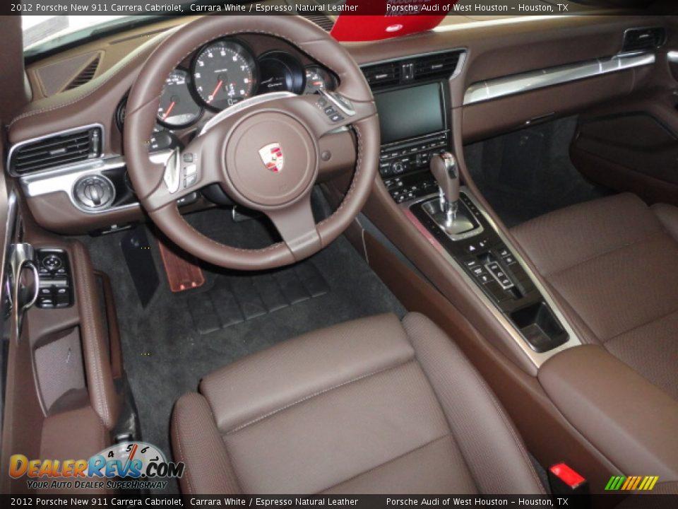 Espresso Natural Leather Interior 2012 Porsche New 911