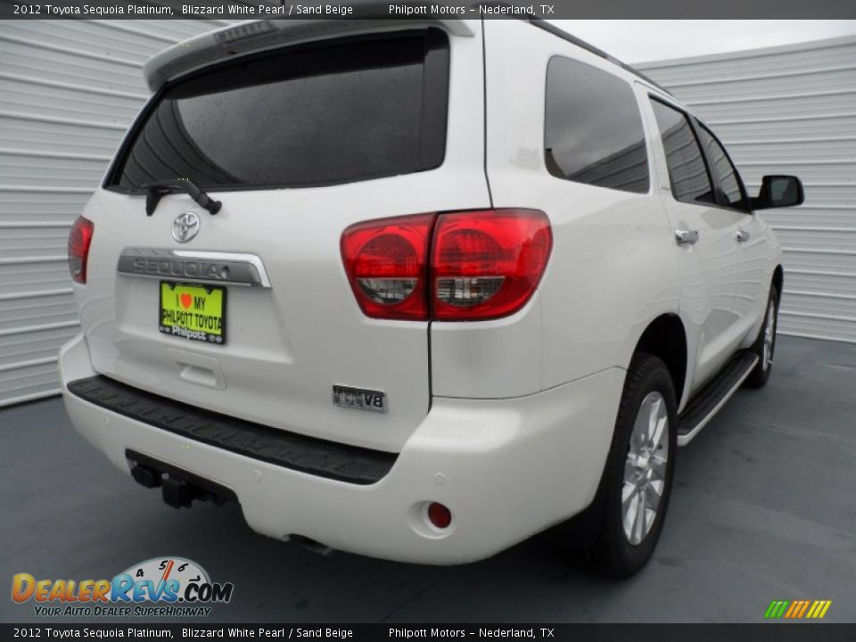 2012 Toyota Sequoia Platinum Blizzard White Pearl Sand