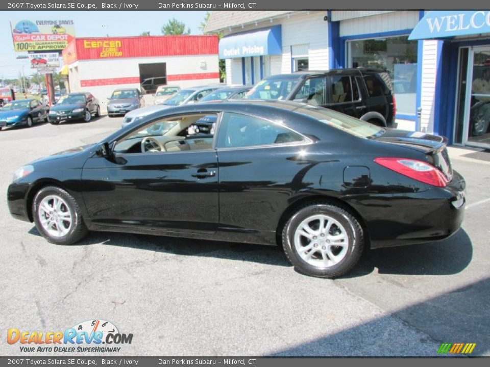 2007 Toyota Solara Se Coupe Black Ivory Photo 11