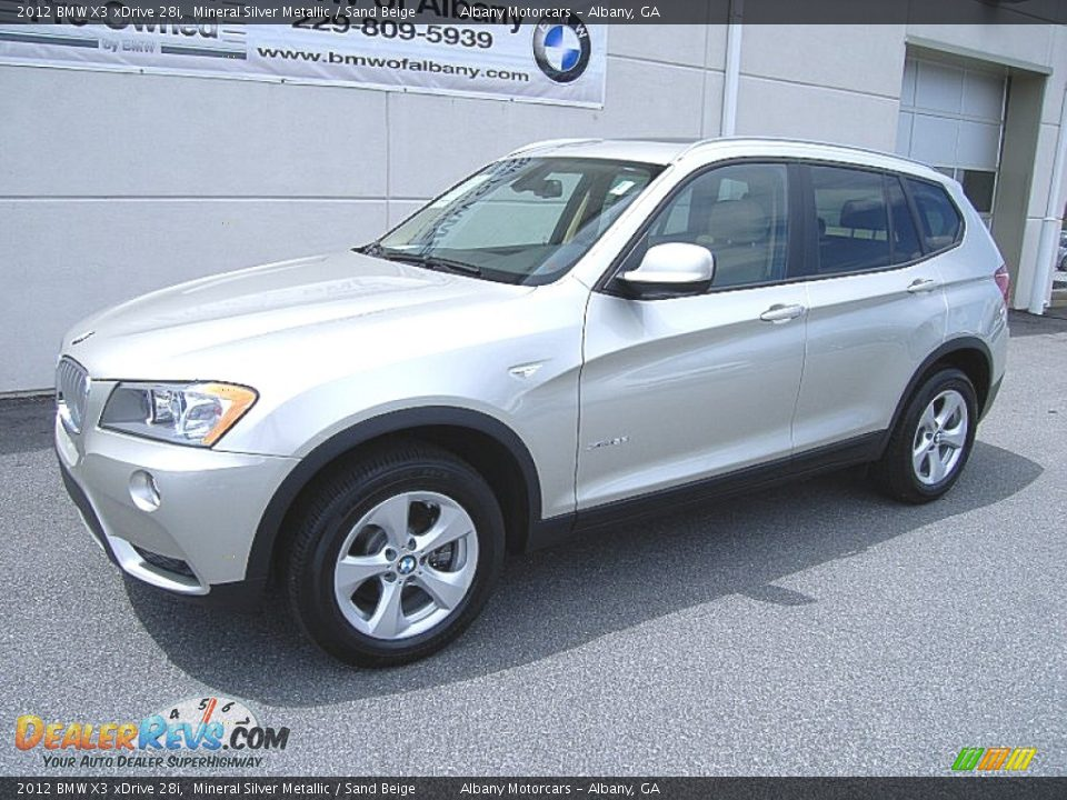 2012 bmw x3 xdrive 28i mineral silver metallic sand beige photo 2. Black Bedroom Furniture Sets. Home Design Ideas