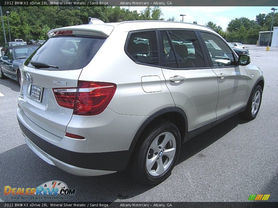 2012 bmw x3 xdrive 28i mineral silver metallic sand beige photo 6. Black Bedroom Furniture Sets. Home Design Ideas