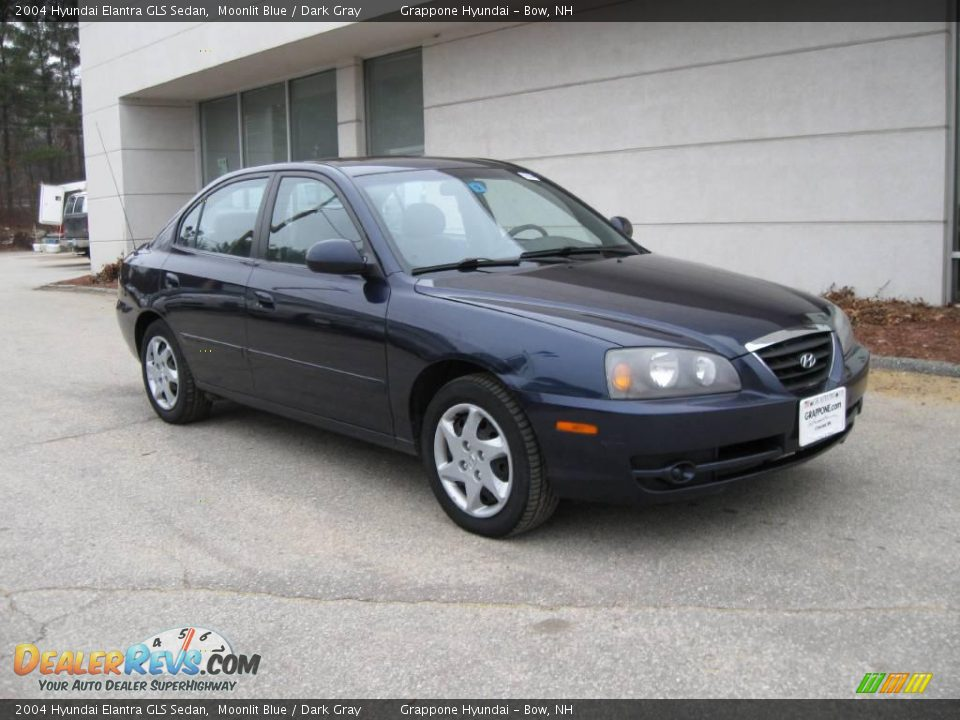 2004 hyundai elantra gls sedan moonlit blue dark gray. Black Bedroom Furniture Sets. Home Design Ideas