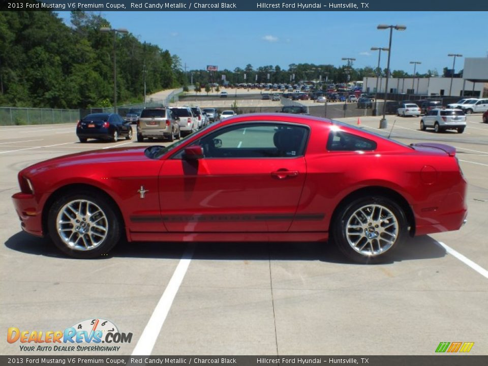 2013 ford mustang v6 premium coupe red candy metallic charcoal black. Black Bedroom Furniture Sets. Home Design Ideas