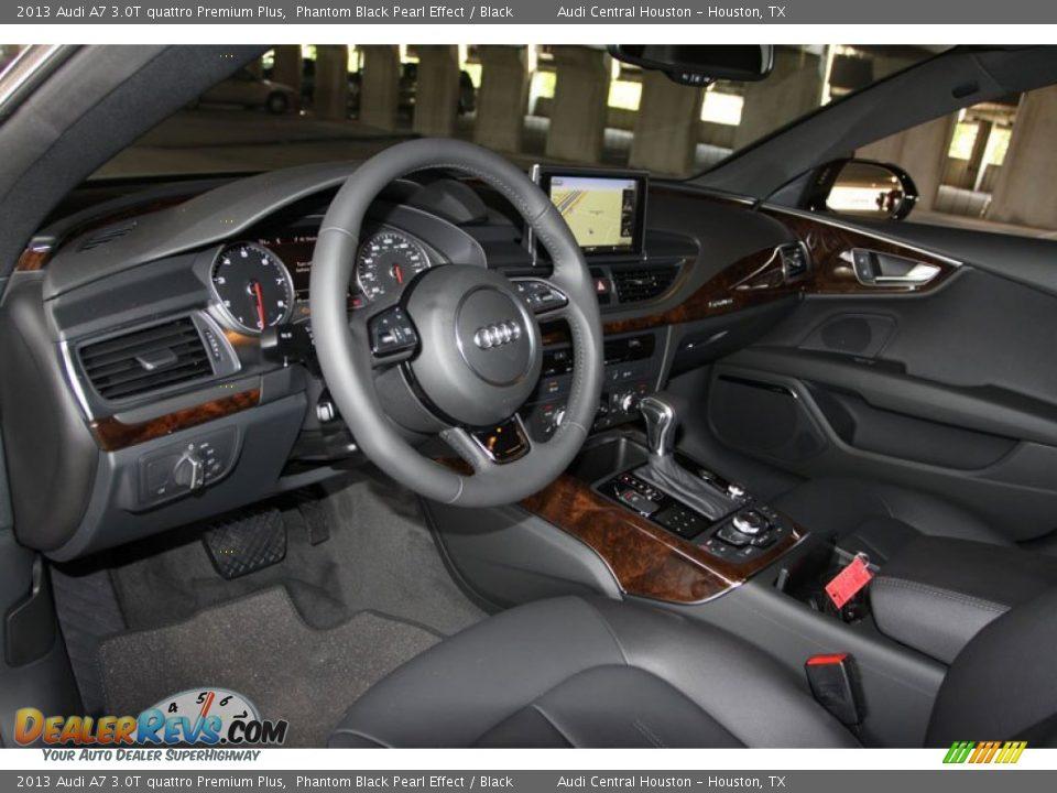 Black Interior 2013 Audi A7 3 0t Quattro Premium Plus