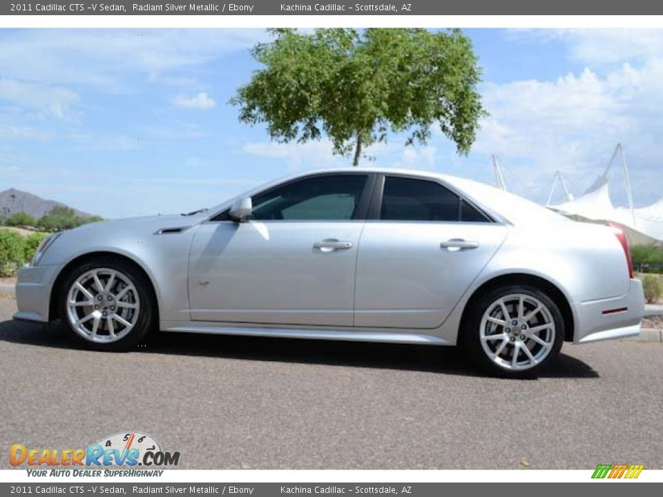 2011 Cadillac Cts V Sedan Radiant Silver Metallic Ebony