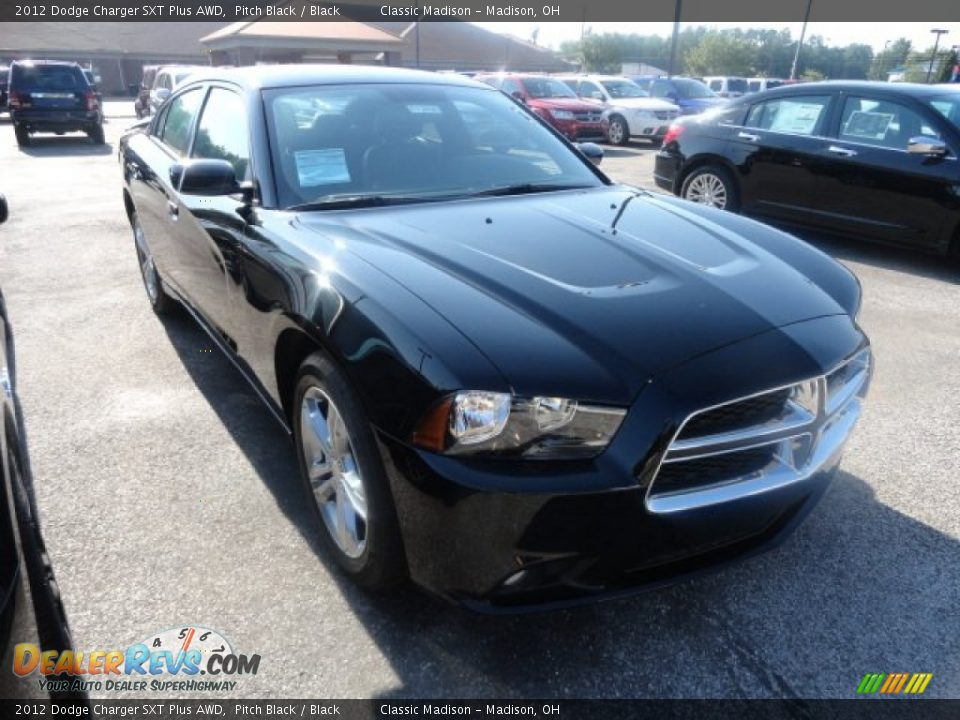 2012 Dodge Charger SXT Plus AWD Pitch Black / Black Photo #3