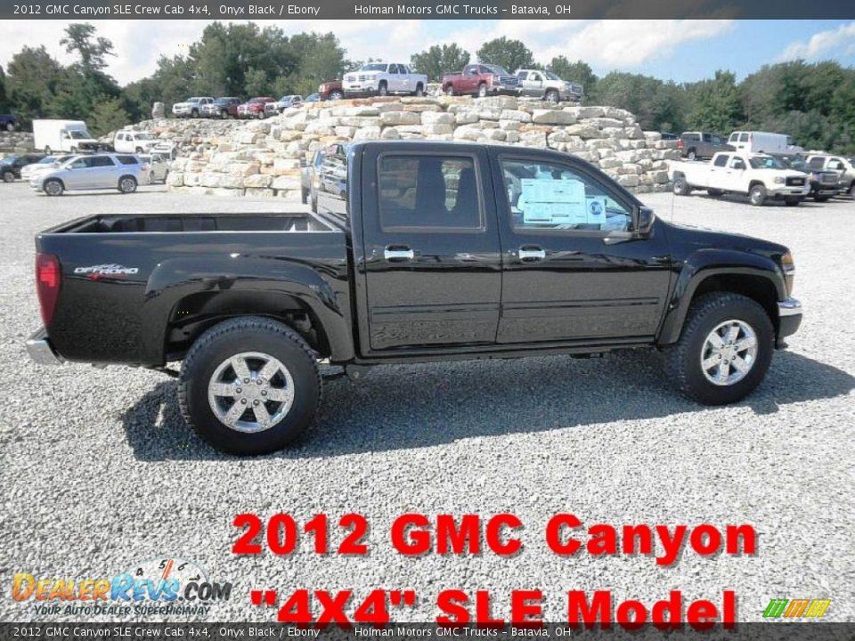 2012 Gmc Canyon Sle Crew Cab 4x4 Onyx Black Ebony Photo