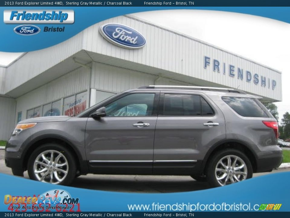 2013 Ford Explorer Limited 4wd Sterling Gray Metallic Charcoal Black Photo 1 Dealerrevs Com