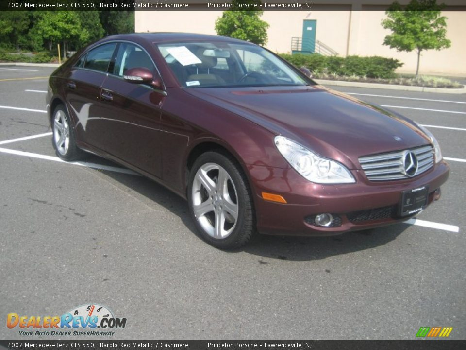 2007 mercedes benz cls 550 barolo red metallic cashmere for 2007 mercedes benz cl 550