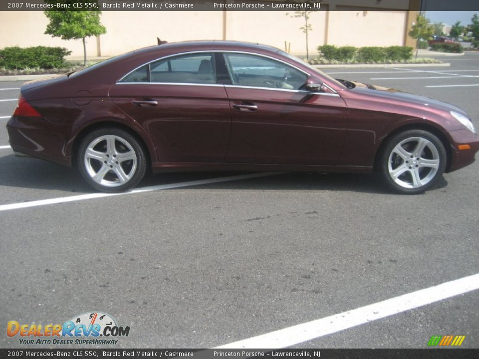 2007 mercedes benz cls 550 barolo red metallic cashmere for 2007 mercedes benz cls