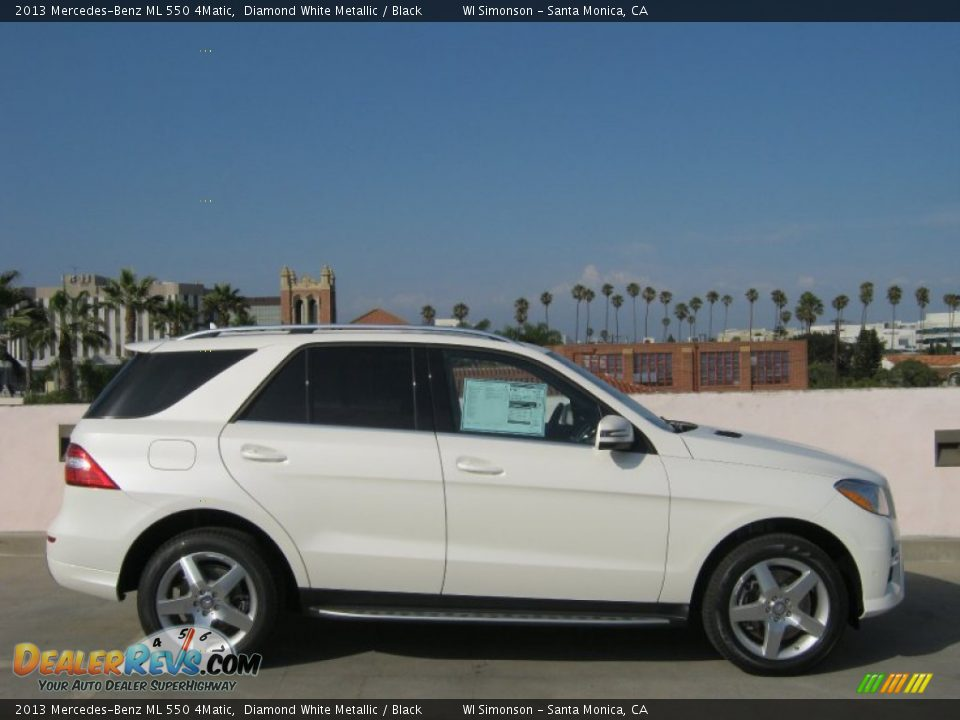 Diamond White Metallic 2013 Mercedes-Benz ML 550 4Matic Photo #3