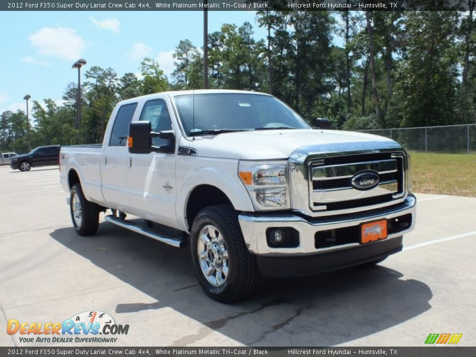 2012 ford f350 super duty lariat crew cab 4x4 white. Black Bedroom Furniture Sets. Home Design Ideas