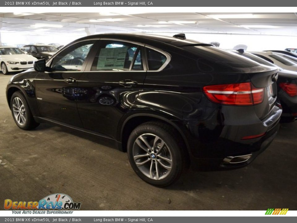 2013 Bmw X6 Xdrive50i Jet Black Black Photo 4