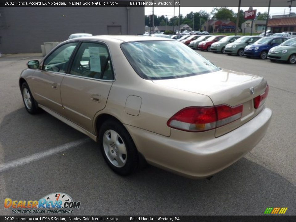2002 honda accord ex v6 sedan naples gold metallic ivory photo 5. Black Bedroom Furniture Sets. Home Design Ideas