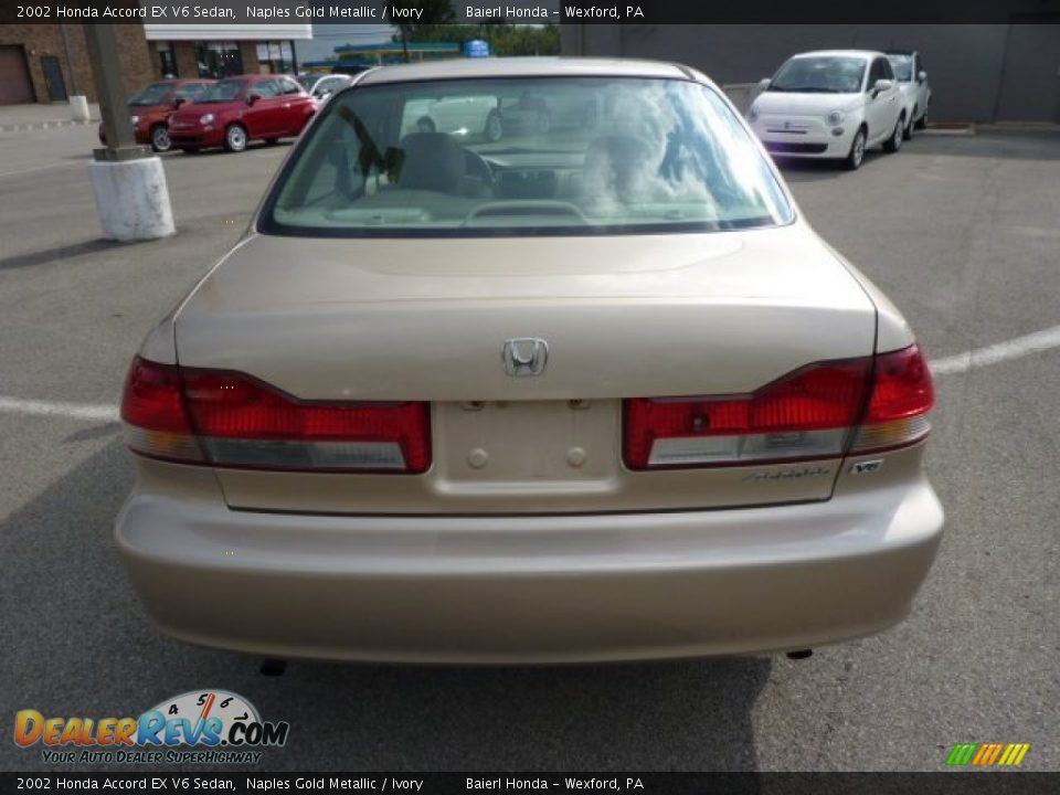 2002 honda accord ex v6 sedan naples gold metallic ivory photo 6. Black Bedroom Furniture Sets. Home Design Ideas