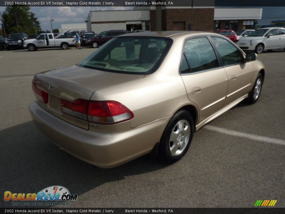 2002 honda accord ex v6 sedan naples gold metallic ivory photo 7. Black Bedroom Furniture Sets. Home Design Ideas