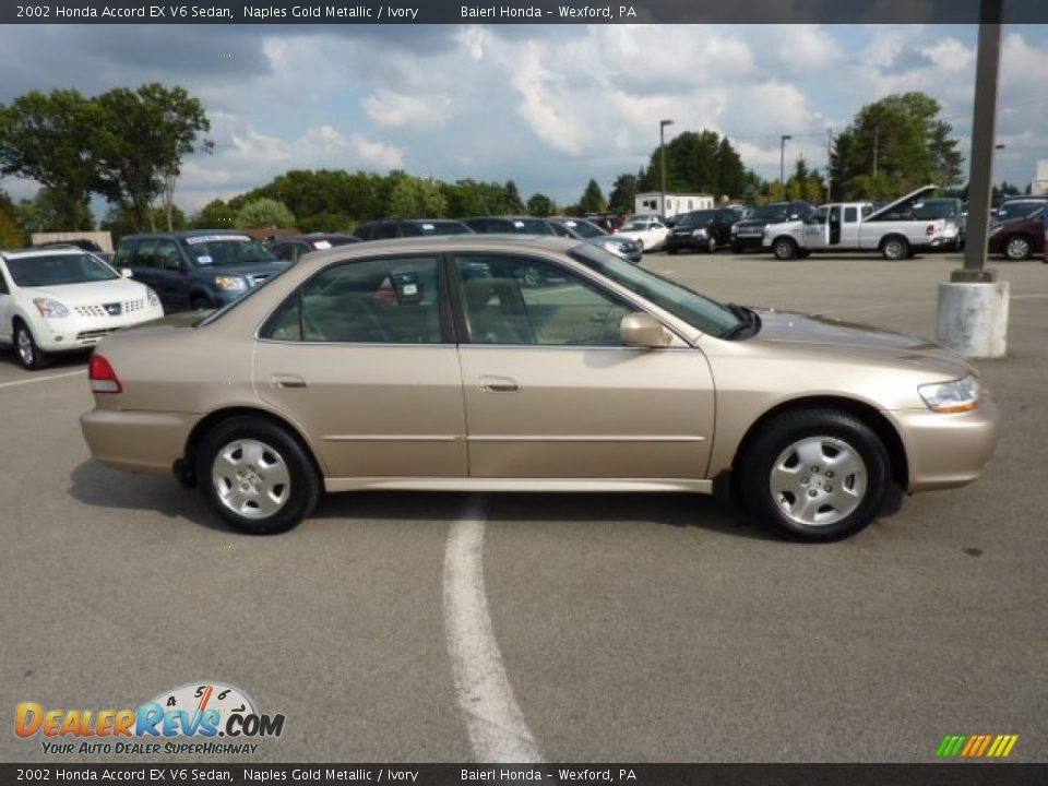 2002 honda accord ex v6 sedan naples gold metallic ivory photo 8. Black Bedroom Furniture Sets. Home Design Ideas
