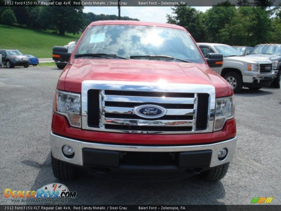 2012 ford f150 xlt regular cab 4x4 red candy metallic steel gray photo 3. Black Bedroom Furniture Sets. Home Design Ideas