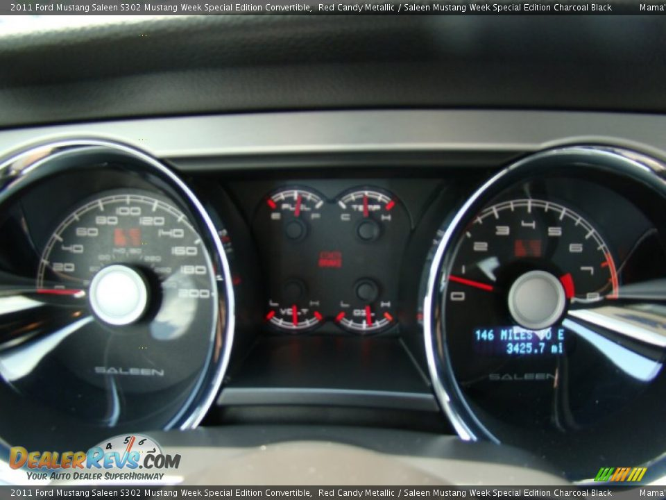 2011 Ford Mustang Saleen S302 Mustang Week Special Edition Convertible Gauges Photo #23
