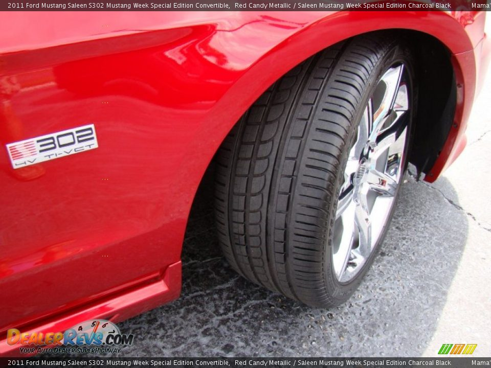 2011 Ford Mustang Saleen S302 Mustang Week Special Edition Convertible Red Candy Metallic / Saleen Mustang Week Special Edition Charcoal Black Photo #26