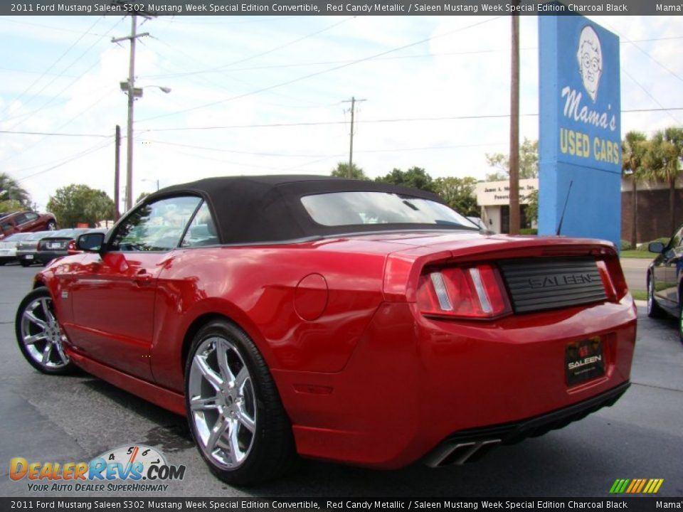 2011 Ford Mustang Saleen S302 Mustang Week Special Edition Convertible Red Candy Metallic / Saleen Mustang Week Special Edition Charcoal Black Photo #30