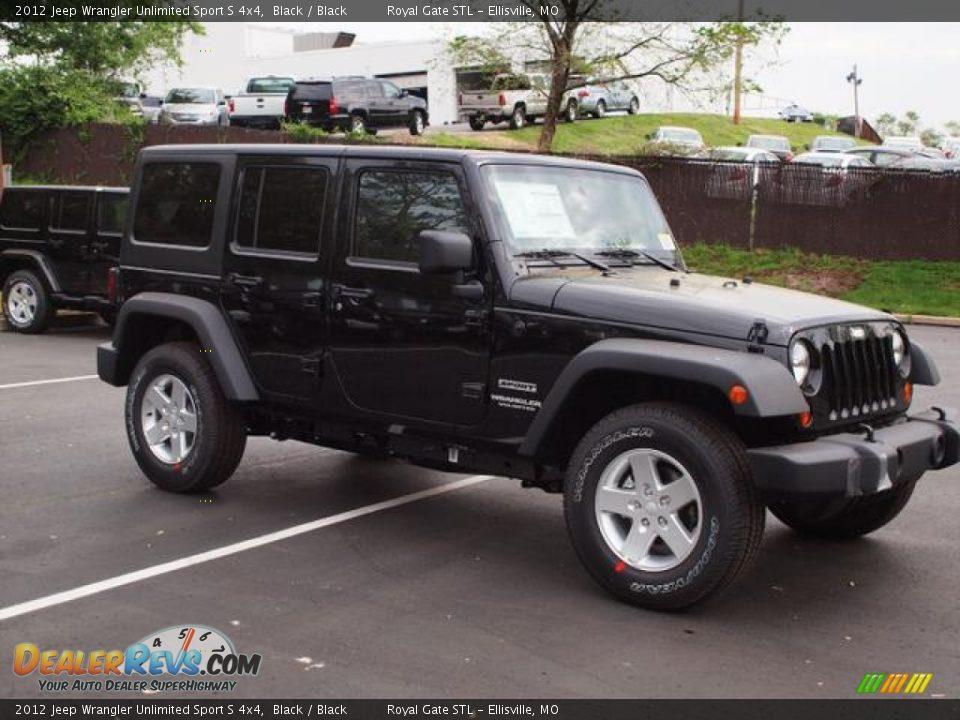 2012 jeep wrangler unlimited sport s 4x4 black black photo 2. Black Bedroom Furniture Sets. Home Design Ideas