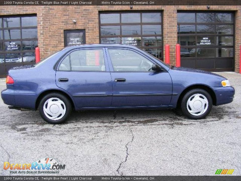 1999 Toyota Corolla CE Twilight Blue Pearl / Light Charcoal