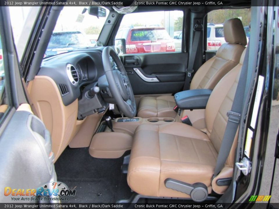 Black Dark Saddle Interior 2012 Jeep Wrangler Unlimited Sahara 4x4 Photo 12