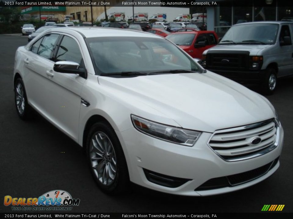 2013 ford taurus limited white platinum tri coat dune photo 2. Cars Review. Best American Auto & Cars Review