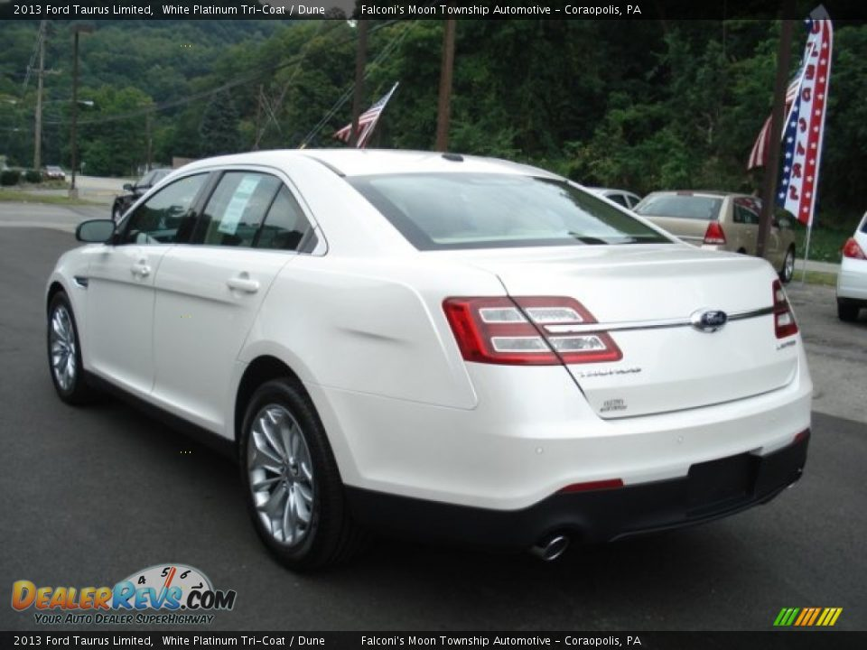 2013 ford taurus limited white platinum tri coat dune photo 6. Black Bedroom Furniture Sets. Home Design Ideas