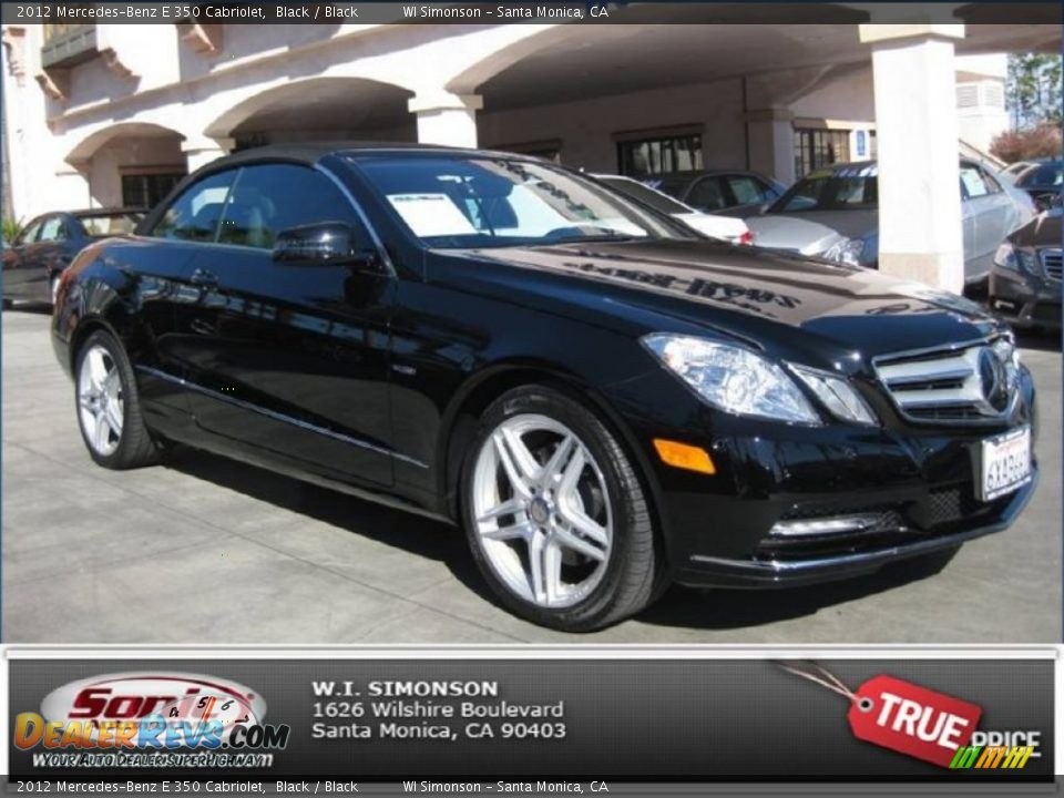 2012 mercedes benz e 350 cabriolet black black photo 1 for 2012 mercedes benz e350 convertible