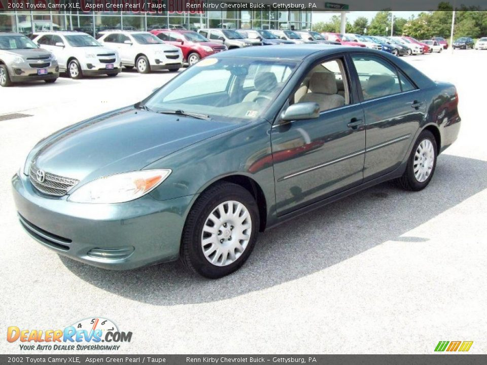 2002 Toyota Camry Xle Aspen Green Pearl Taupe Photo 10