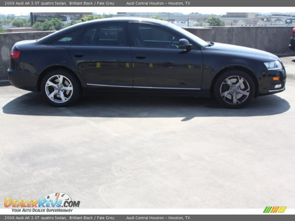 2009 Audi A6 3.0T quattro Sedan Brilliant Black / Pale Grey Photo #6 ...