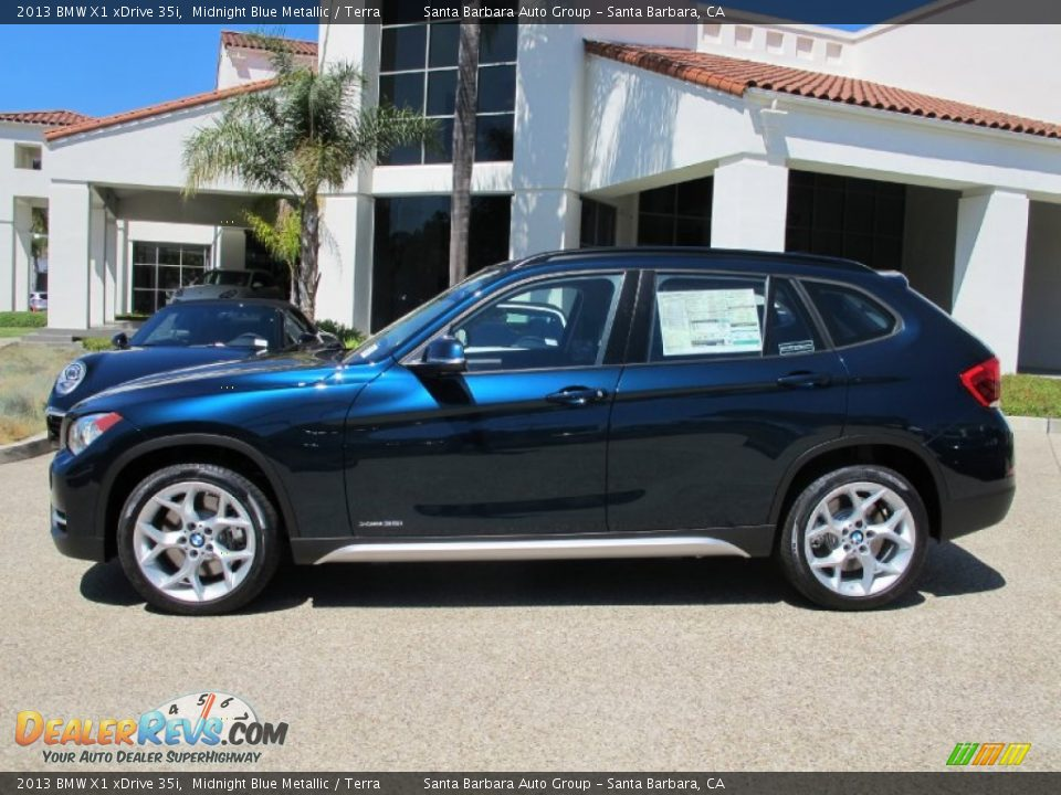 Midnight Blue Metallic 2013 Bmw X1 Xdrive 35i Photo 2 Dealerrevs Com
