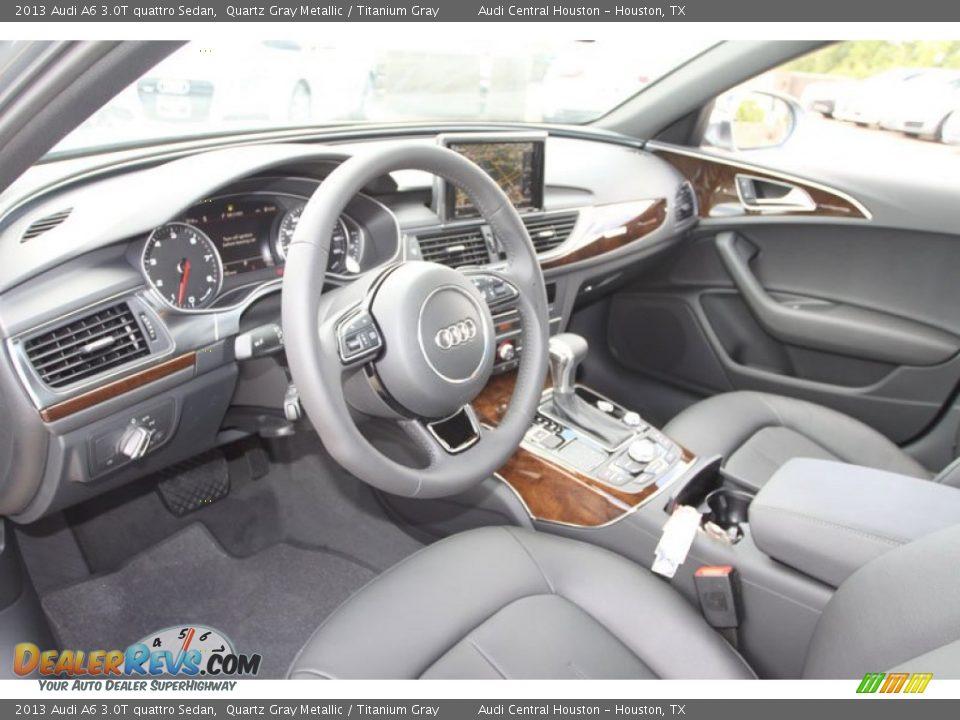 Titanium Gray Interior 2013 Audi A6 3 0t Quattro Sedan