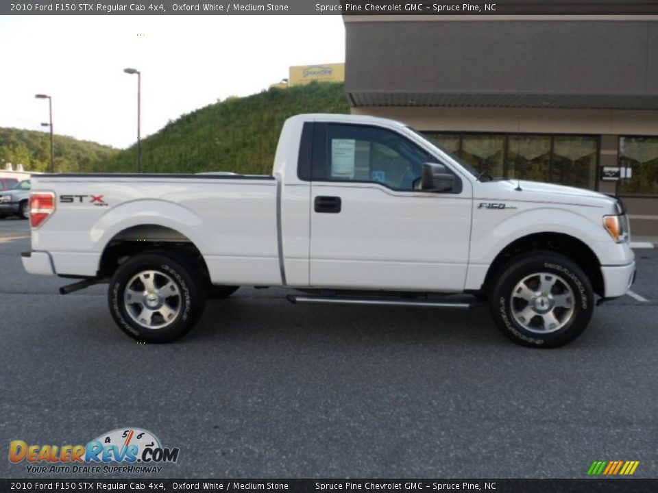 2010 ford f150 stx regular cab 4x4 oxford white medium stone photo 2. Black Bedroom Furniture Sets. Home Design Ideas